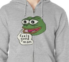 Feels Good Man Zipped Hoodie