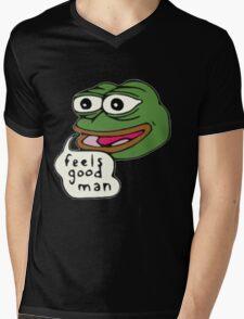 Feels Good Man Mens V-Neck T-Shirt