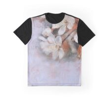 Flower retro background Blossoming of cherry.  Graphic T-Shirt