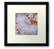 Flower retro background Blossoming of cherry.  Framed Print