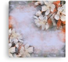Flower retro background Blossoming of cherry.  Canvas Print