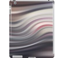 Abstract modern wavy flowing silk, satin background. iPad Case/Skin