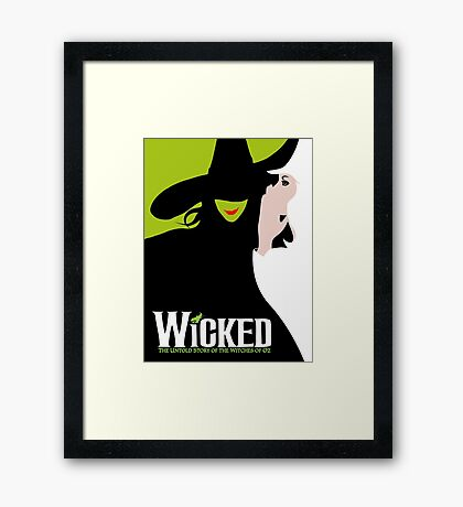 Wicked Broadway Musical Framed Print