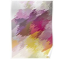 Abstract colorful bright background with brush strokes texture Poster