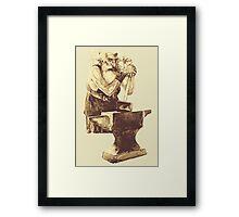 Fantasy Dwarf Blacksmith from Faeries Framed Print