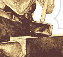 Fantasy Dwarf Blacksmith from Faeries Sticker