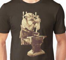 Fantasy Dwarf Blacksmith from Faeries Unisex T-Shirt