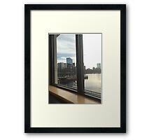 Boston window Framed Print