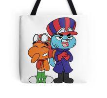 Gumball and Darwin - Wacky Racers Tote Bag