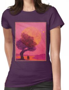 Pink Moon Womens Fitted T-Shirt