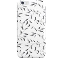 Silver Green Willow Leaf  iPhone Case/Skin