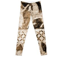 Carved in Ancient Stone Leggings