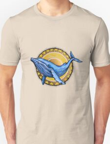 Whale and the sun Unisex T-Shirt