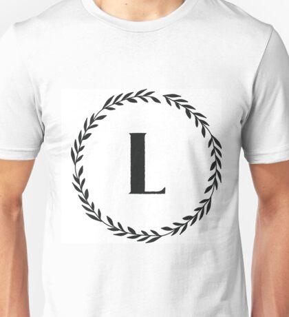 Monogram Wreath - L Unisex T-Shirt