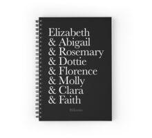 The Women of When Calls the Heart Spiral Notebook