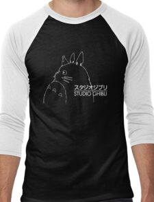 Studio Ghibli Inspired Totoro Men's Baseball ¾ T-Shirt