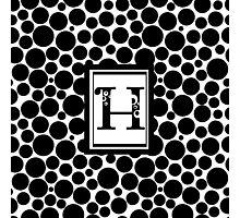 H Bubbles Photographic Print