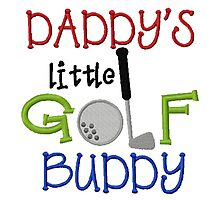 Daddy's Golf Buddy Photographic Print