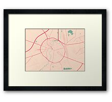 Leuven Map (Springtime) Framed Print