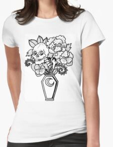 Bouquet Decay: Memento Mori Womens Fitted T-Shirt