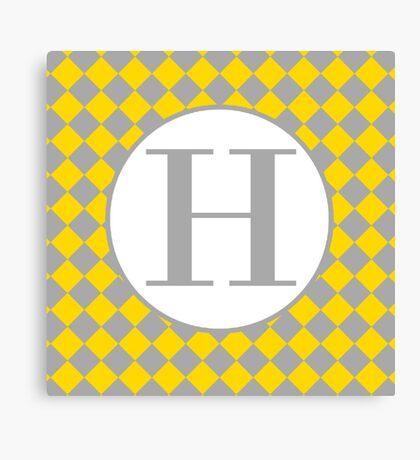 H Checkard Canvas Print