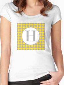 H Checkard Women's Fitted Scoop T-Shirt