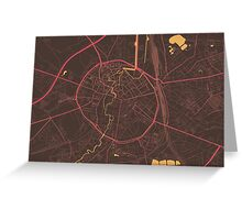 Leuven Map (Summer) Greeting Card