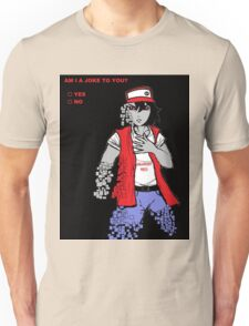 Am I A Joke To You? (Glitchy Red) Unisex T-Shirt