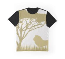 Lion on the Plains Graphic T-Shirt