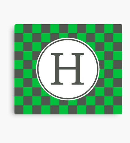 H Checkard II Canvas Print