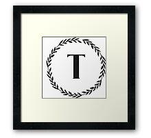 Monogram Wreath - T Framed Print