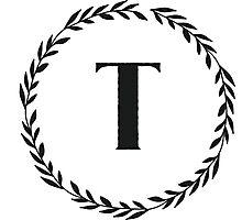 Monogram Wreath - T Photographic Print