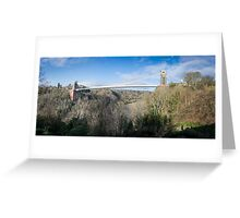 Panorama of Clifton Suspension Bridge Greeting Card
