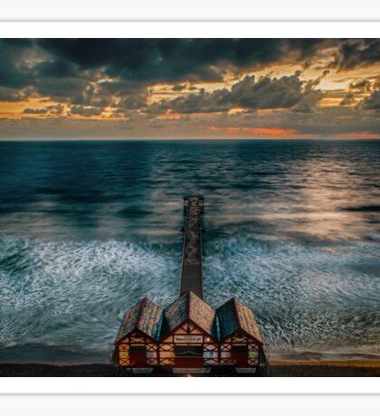 Dawn At Saltburn Pier Sticker