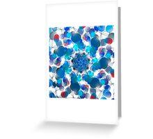 Blue Kaleidoscope Greeting Card