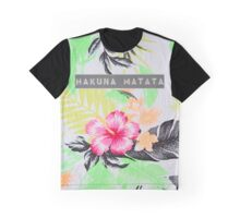 Hakuna Matata - Tropical Print Graphic T-Shirt