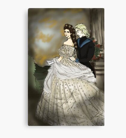 Empress Elisabeth of Austria and Death Canvas Print