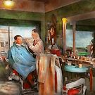 Barber - Getting a trim 1942 by Mike  Savad