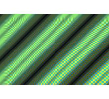 Green & Yellow Checkered Tubes Photographic Print