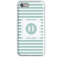 Striped Letter H iPhone Case/Skin