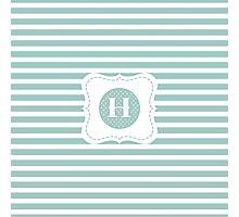 Striped Letter H Photographic Print