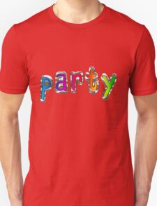 Party Word with Metal and Glass Effect T-Shirt