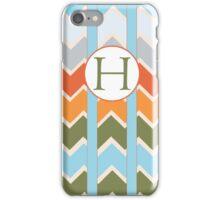 H Chevron iPhone Case/Skin