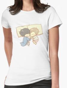 Sleeping Together Womens Fitted T-Shirt