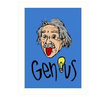 Albert Einstein bigmouth Art Print