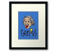 Albert Einstein bigmouth Framed Print