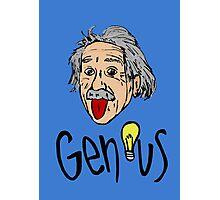 Albert Einstein bigmouth Photographic Print