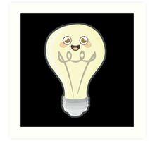 Kawaii bulb Art Print