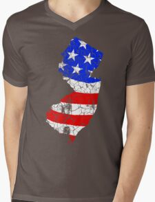 New Jersey USA Pride Mens V-Neck T-Shirt
