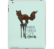 Flounce, the Fox on Stilts (Sky) iPad Case/Skin